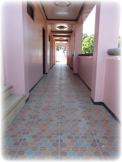 Hallway to common CR & Shower rooms and 2F